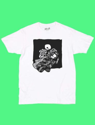 Anime ghost graphic tee by Japanese artist Mizna Wada.