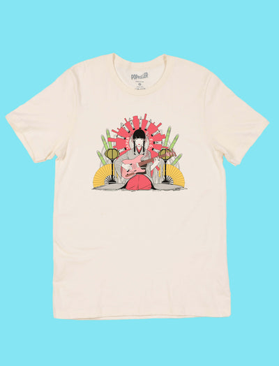 Japanese anime girl graphic tee by aesthetic artist Sci Fi Girl.