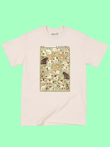 Japanese Ukiyoe Cats Playing Classic T-shirt