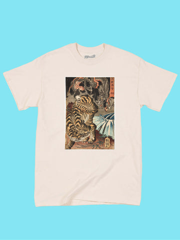 Japanese Ukiyoe Tiger vs. Dragon Classic T-shirt