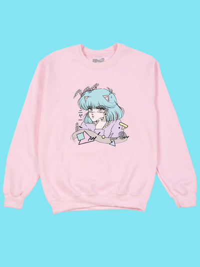 Kawaii anime catgirl sweater.