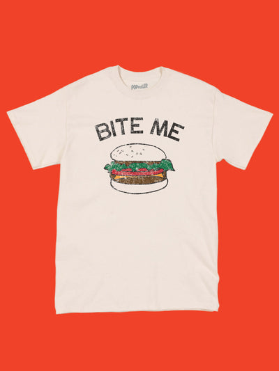 Retro burger graphic tee by Los Angeles brand Popkiller.