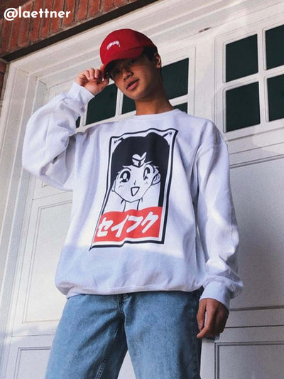 Sailor Moon sweatshirt by Los Angeles brand Popkiller.