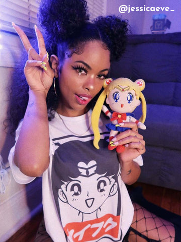 Sailor Moon graphic tee by Los Angeles brand Popkiller.