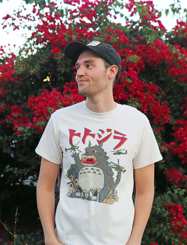 Totoro graphic tee by Los Angeles brand Popkiller.