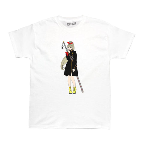 Popkiller Artist Series Sagaken Red Shoulder Women's T-shirt