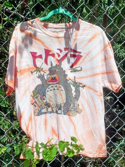 Tie dye Totoro graphic tee by Los Angeles brand Popkiller.