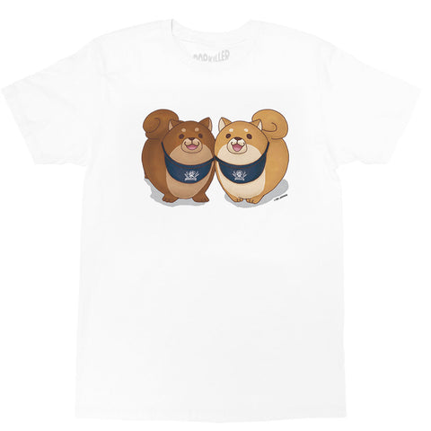 Shiba inu dogs graphic t-shirt by Japanese artist Mochishiba.