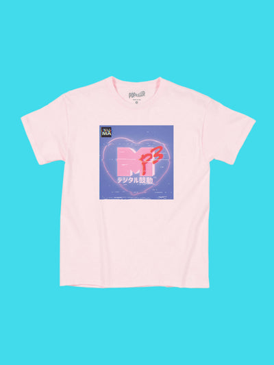 Kawaii MTV women's tee by aesthetic artist Warakami Vaporwave.