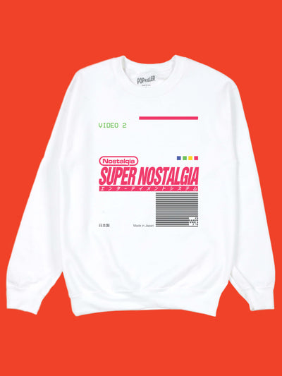 Super Nintendo sweater by aesthetic artist Warakami Vaporwave.