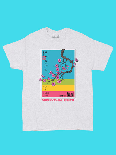 Retro VHS graphic tee by aesthetic artist Warakami Vaporwave.
