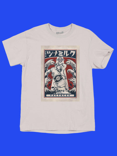 Showa era graphic tee by Japanese artist Anraku.