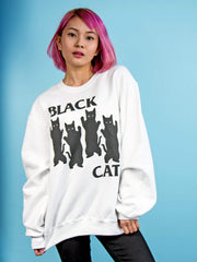 Black Cat Pullover Sweatshirt