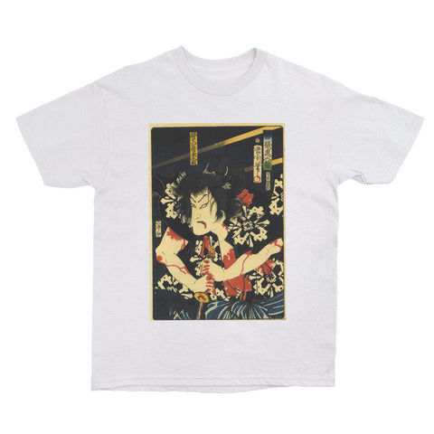 Japanese Ukiyoe Bleeding Samurai Women's T-shirt