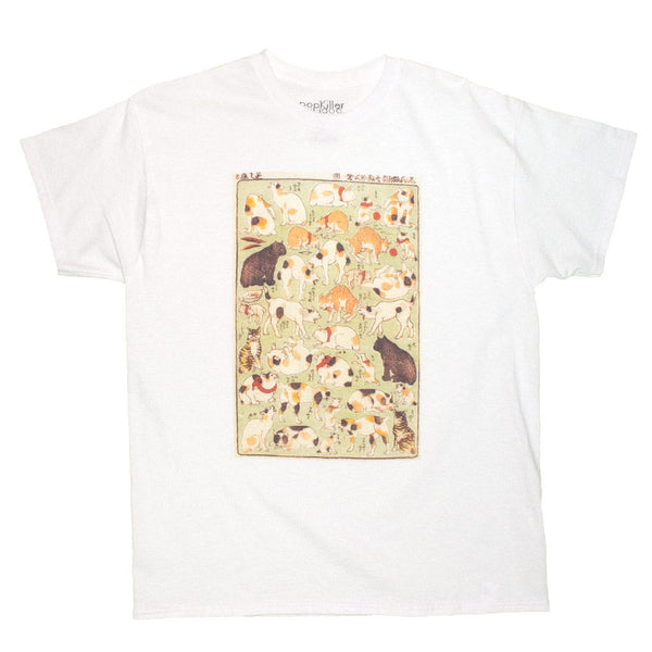 Japanese Ukiyoe Cats Playing Women's T-shirt
