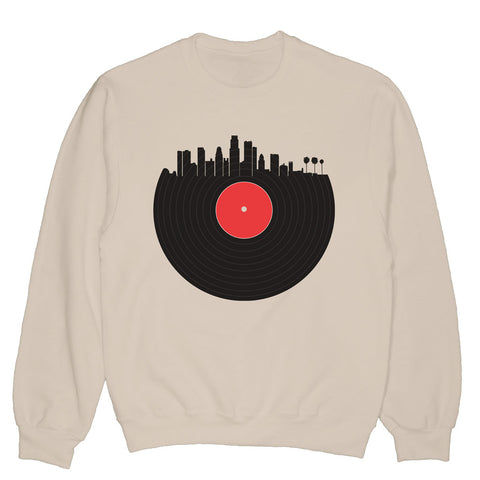 Downtown Vinyl Pullover Sweatshirt