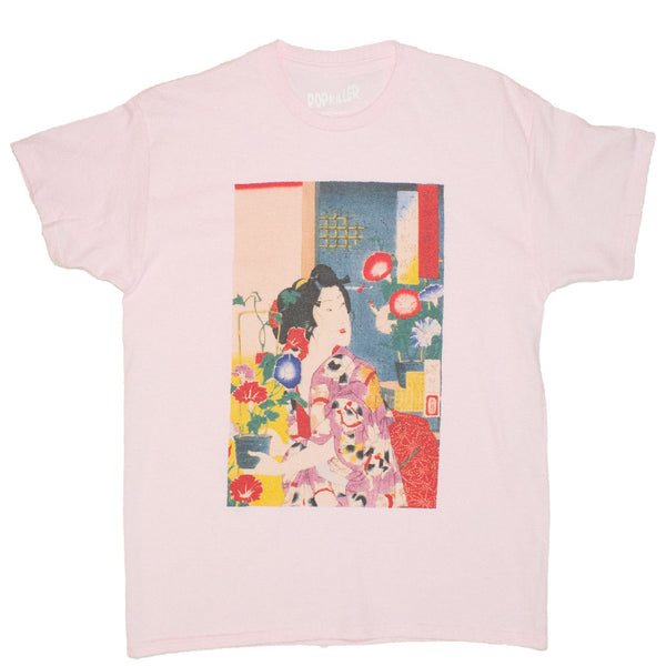 Japanese edo era art wood block painting tshirt