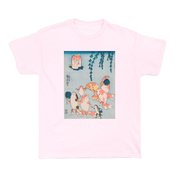 Japanese Ukiyoe Gold Fish Heaven Women's T-shirt