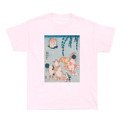 Ukiyoe t shirt ladies gold fish