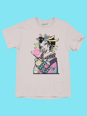 Popkiller Artist Series GRAPE BRAIN Samurai Geisha Classic T-shirt