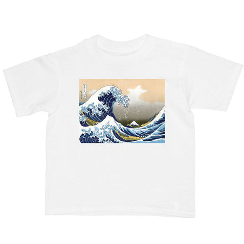 Japanese Ukiyoe Hokusai Wave Kid's T-shirt