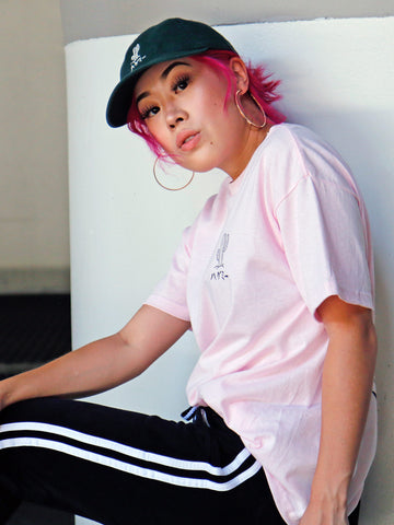 Pink kawaii cactus graphic t-shirt by LA brand Popkiller.