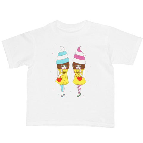 Popkiller Artist Series Naoshi Ice Cream Girls Kid's T-shirt