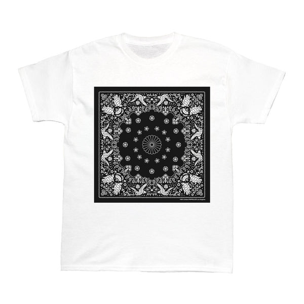 Japanese Paisley Bandana Black Women's T-shirt