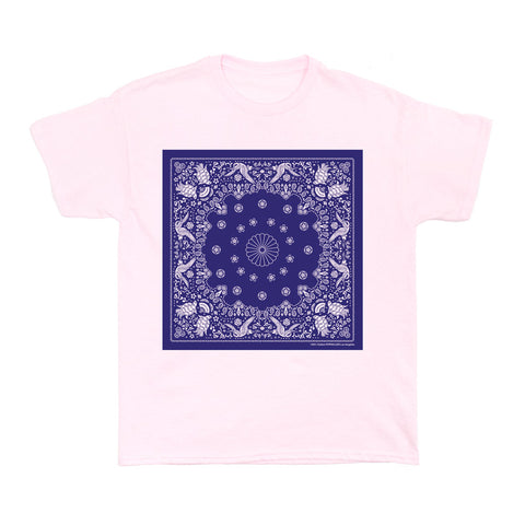 Japanese Paisley Bandana Blue Women's T-shirt