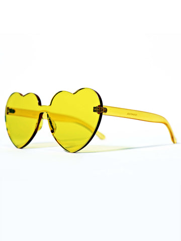 Jelly Celluloid Heart Sunglasses