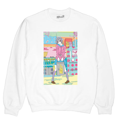 Popkiller Artist Series Sci Fi Girl Kitchen Pullover Sweatshirt