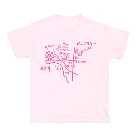 LA Rakugaki Map Women's T-shirt