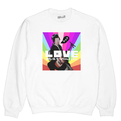 Popkiller Artist Series Aki Ijuin Love What You Do Pullover Sweatshirt