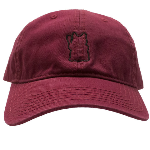 Lucky Cat Dad Cap - Black or Maroon