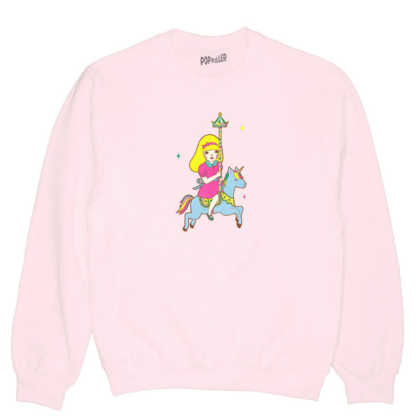 Popkiller Artist Series Naoshi Escape From A Merry-Go-Round Pullover Sweatshirt