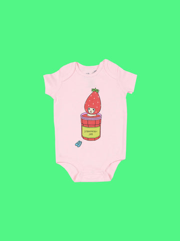 Popkiller Artist Series Naoshi Strawberry Jam Bath Baby Onesie