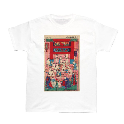 Japanese Ukiyoe Nekonoyu Spa Women's T-shirt