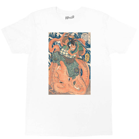 Japanese Ukiyoe Octopus Fight Classic T-shirt