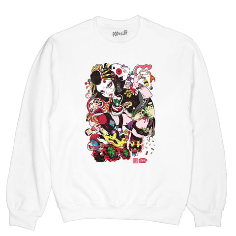 Popkiller Artist Series Grape Brain Oiran Pullover Sweatshirt