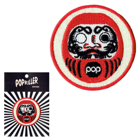 Japanese Daruma (Wish Doll) Sew/ Iron on Patch