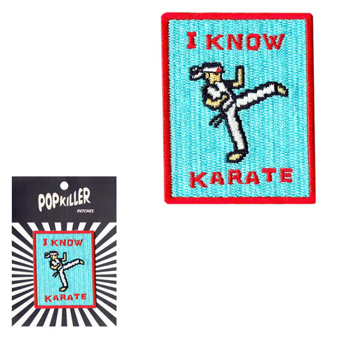 I Know Karate Sew/Iron on Patch