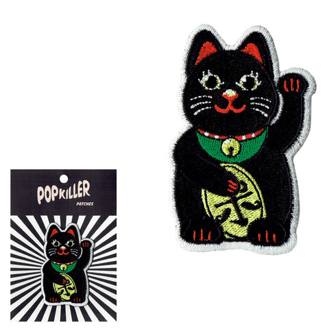 Lucky Cat Sew/Iron on Patch (multiple colors)