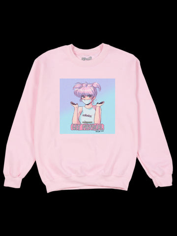 Popkiller Artist Series Mizucat Please Don't Get Physical Pullover Sweatshirt