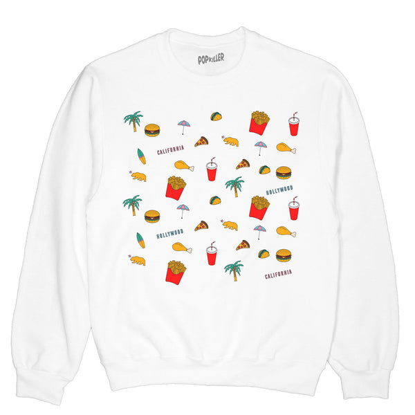 Pop Junk Foods Pullover Sweatshirt