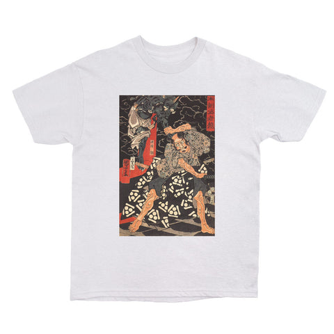 Ukiyoe t shirt samurai fight