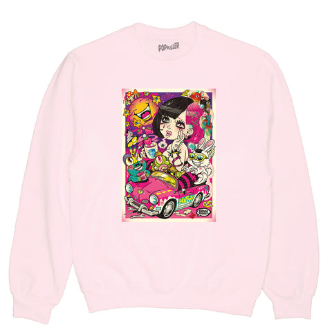 Popkiller Artist Series Grape Brain Soba Pullover Sweatshirt