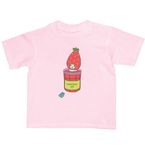 Popkiller Artist Series Naoshi Strawberry Jam Bath Kid's T-shirt