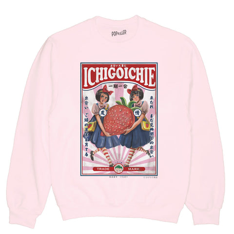 Popkiller Artist Series Anraku Strawberry Twins Pullover Sweatshirt