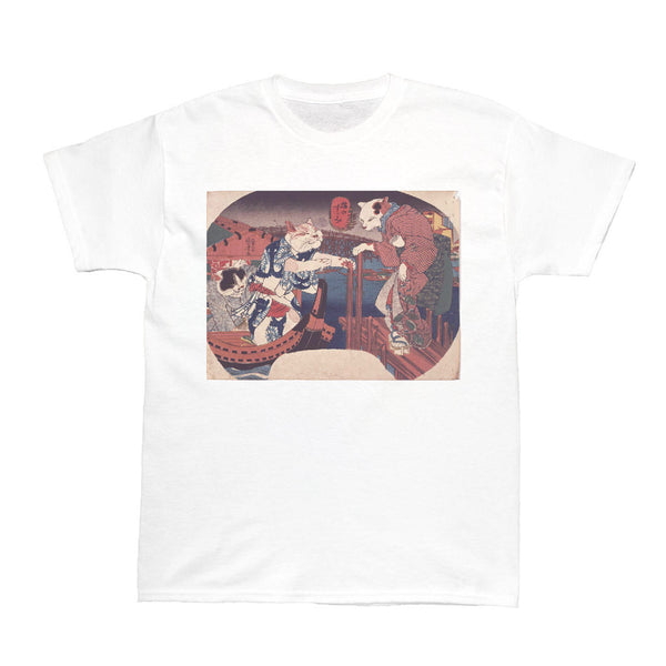 Japanese Ukiyoe Suimi Cat Women's T-shirt