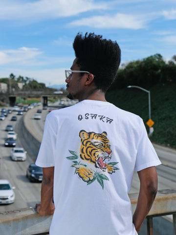 Japanese tiger illustration tee by Los Angeles brand Popkiller.